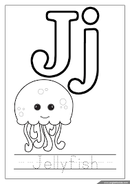 The Letter J Coloring Pages Printable Alphabet Letters A