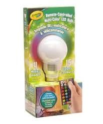 look at this crayola color changing led light bulb set of two on