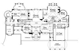 Chateau Floor Plans Chateau De La Ravinere 6037 5 Bedrooms And 4 Baths The House Designers