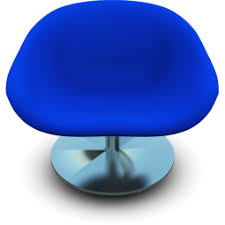 Blue Modern Chair Icon PNG ClipArt Image