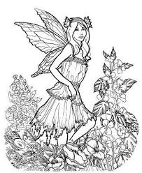 Very Detailed Fairy Coloring Pages
