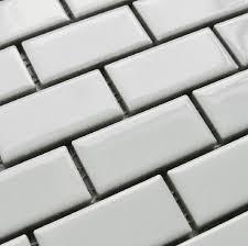 home improvement white porcelain backsplash tile subway ceramic