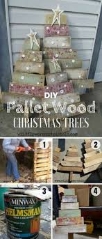 Check Out How To Build These Easy DIY Pallet Wood Christmas Tree Istandarddesign