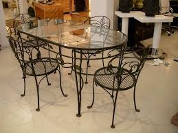 Simple Wrought Iron Table And Chair Set Of Furniture Kitchen Table ...