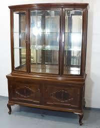 kolonial buffetschrank küchenschrank vitrine wohnzimmerschrank braun gebraucht antiklook massiv