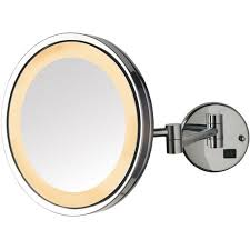 jerdon 9 5 led halo lighted wall mount mirror with 5x