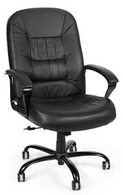 amazon com ofm big and tall executive chair leather computer