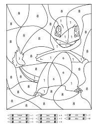 Pokemon Colour By Numbers Charmander Worksheet