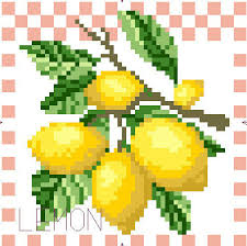 Needlework Crafts Simile French Dmc Quality Top Counted Cross Stitch Kits 14ct Lemons Fruit Kitchen Decoration