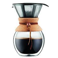 Amazon Bodum 11682 109 8 Cup Double Wall Pour Over Coffee Maker With Cork Grip Kitchen Dining