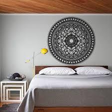 moderne schlafzimmer kopfteil wandaufkleber mandala muster decals vinyl kunst wohnkultur