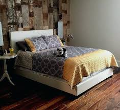 Reclaimed Wood Wall Bedroom Jimmy Vertical Application Feature In