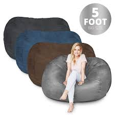 Bean Bag Chair | 5 Foot & Dark Grey | Microsuede Cover Machine Washable Big  Size Sofa And Giant Lounger Furniture For Kids Teens And Adults Childrens Bean Bag Chairs Site About Children Kids White Pool Soothing Company Stuffed Animal Chair For Extra Large Empty Beanbag Kid Toy Storage Covers Your Childs Animals And Flash Fniture Oversized Solid Hot Pink Babymoov Transat Dmoo Nid Natural Amazonde Baby Big Comfy Posh With Removable Cover Teens Adults Polyester Cloth Puff Sack Lounger Heritage Toddler Rabbit Fur Teal Easy With Beans Game Gamer Sofa Plush Ultra Soft Bags Memory Foam Beanless Microsuede Filled Yayme Flamingo Girls Size 41 Child Quality Fabric Cute Design 21 Example Amazon Galleryeptune Premium Canvas Stuffie Seat Only Grey Arrows 200l52 Gal Amazoncom