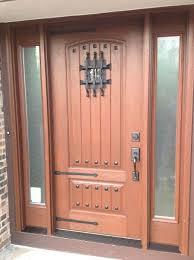 Rustic Front Door With Windows