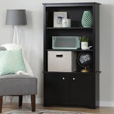 South Shore Morgan Storage Cabinet Pure Black by South Shore Vito 3 Shelf Bookcase With Doors Walmart Canada