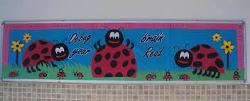 Spring Library Bulletin Board Idea