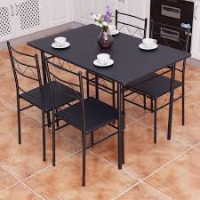 Amazon.com - Accent Home 4 Seat Black Dining Table Chairs ... Country Style Ding Table And Chairs Thelittolltiveco Details About Modern 5 Pieces Ding Table Set Glass Top Chair For 4 Person Garden Chairs White Background Stock Photo Tips To Harmoniously Mix Match Room Fniture Mid Century Gateleg And Rectangle Aberdeen Wood Rectangular Kids Bammax Toddler 4chairs Wooden Activity Indoor Play 38 Years Old Children With Planning Your Area Hot Sale 30mm Marble Seater Kitchen For Buy High Quality Tablekitchen Chairsmarble Ensemble Fold Console Quartz Royal Style