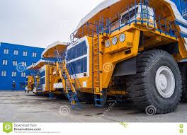 100 Huge Trucks BelAZ In A Row Editorial Stock Photo Image Of Bulldozer