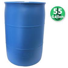 Emsco 55 Gal Paintable Blue Industrial Plastic Rain Barrel 2770 1