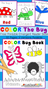 Printable Halloween Books For Preschoolers by Color The Bug Free Printable Emergent Reader Book