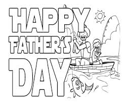 Happy Fishing On Fathers Day Coloring Page For Kids