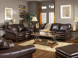Coffee Table Stunning Design Ideas Of Living Room Furniture With Dark Brown Leather Sofa And