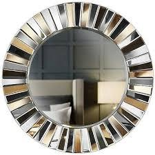 gold wand runder spiegel gespiegeltes 3d glas wohnzimmer