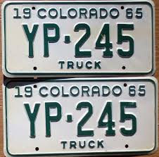 1965 COLORADO LICENSE Plate Number Tag PAIR Plates - Truck - $29.99 ... License Plate Oklahoma Zz Is A Showboat Of Sleeper 10 Second Ontario Quarterly Truck And Bus Plates Part M Flickr Mapa Plate License Plates The Portly Chronicles More Auto Blonde 2x Car Truck Dark Blue Frames Number A Rustic Christmas Tablescape Celebrate Decorate Do I Need Commercial Encharter Insurance Deck 1966 Texas Farm Brandywine General Store 1961 Virginia Lpr For Access Control