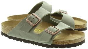 birkenstock arizona 2 bar buckle mule sandals in stone grey in stone