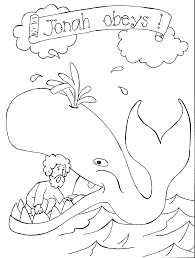 Jonah And The Whale Coloring Pages Swallow Best Of Christian For Kids