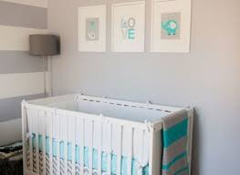 baby nursery crisp white walls with light pink grey and