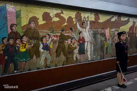 Big Ang Mural 2016 by Stopping All Stations The Pyongyang Metro Earth Nutshell