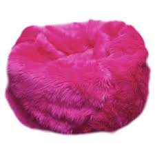 Fuzzy Fur Hot Pink Bean Bag Chair