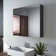 emke spiegelschränke 75x65cm spiegelschrank badschrank mit doppelseitiger spiegel schwarz