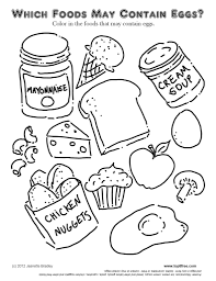 Food Group Coloring Pages Sheets For Preschoolers With Of