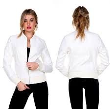 white leather jacket ebay