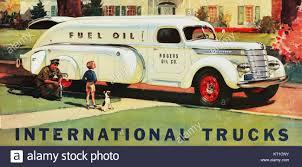 100 1940 International Truck Tanker Ad Stock Photo 169680167 Alamy