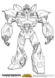 Coloriage Transformers Prime Beast Hunters Bumblebee Transformers