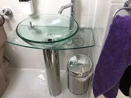 waschtisch glas waschbecken chrom bad by really badkeramik