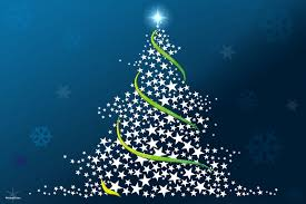 31 Christmas Wallpapers Free Tree Made Out F Stars Blue Background Wallpaper