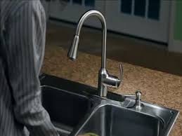 Menards Brushed Nickel Kitchen Faucets by Moen Wellsley One Handle Pull Down Kitchen Faucet With Reflex At