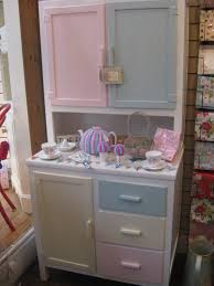 Original 40s Kitchen Cabinet Painted In Pastels