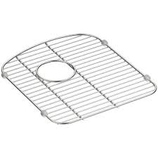 kohler langlade smart divide stainless steel sink rack for right