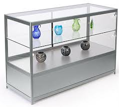 glass store counter with led lights built in storage cabinet
