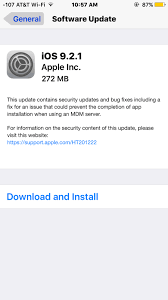 iOS 9 2 1 Released for iPhone iPad iPod touch [IPSW Direct
