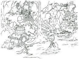 Coloring Pages A Monkey And Bison Finding An Ancient Overgrown City In The Jungle