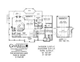 Mountain Lake House Plan 062681st Floor