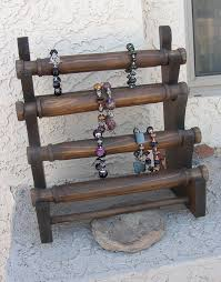 Jewelry Display Bracelet Stand Wooden Store Craft Show