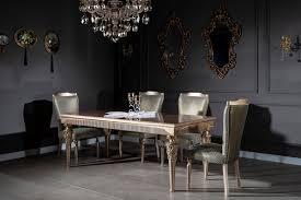 casa padrino luxus barock esszimmer set grün silber kupfer gold 1 esstisch 6 esszimmerstühle barock esszimmer möbel edel prunkvoll