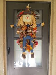 Burlap Mardi Gras Door Decorations by Ready To Ship Fall Scarecrow Swag Wreath Front Door Wreath Fall